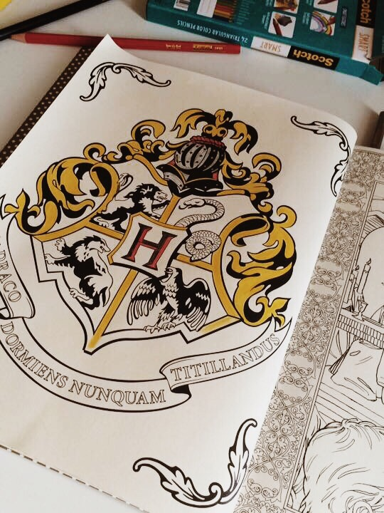 Highlight Of The Week Harry Potter Coloring Book For Adults Hi I Moved To Lookingforabura